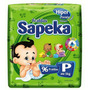 Fralda Sapeka Hiper P 96 Fraldas ( Kit 4 Pacotes )