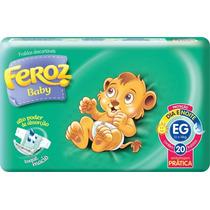Fraldas Feroz Baby Dia E Noite C/ 20 Fraldas Eg