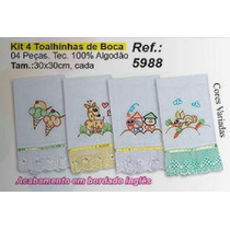 Kit 4 Toalhinhas De Boca - Bordados Ibitinga