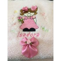 Cobertorzinho Bebê Bordado E Personalizado Com Nome Desenho