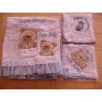 Kit Promocional 1/manta De Fralda+3 Panos De Boca/bebês/bebê