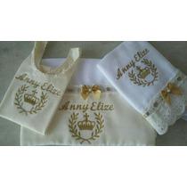 Kit Camiseta + Fralda + Pano De Boca