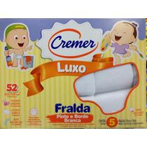 Fralda Cremer Luxo Pinte E Borde Cx C/ 5und 70x70cm Branca