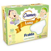 Fralda Cremer Luxo Branca Com Bainha - Caixa C/ 5 Unid.