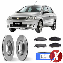 Kit Disco + Pastilha Freio Diant Gm Corsa Sedan 1.4