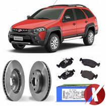 Kit Disco + Pastilha Freio Diant Palio Weekend Adv 1.8 03-09