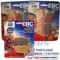 Kit Pastilhas Freio Ebc Fa388hh+fa174hh Honda Cbr 600 F Abs