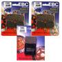 Kit Pastilhas Freio Ebc Fa188hh + Fa063 Hayabusa 1999 A 2008