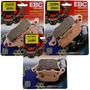Kit Pastilhas Freio Ebc Fa229+fa231+fa174 V-strom Dl650 1000