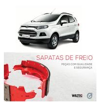 Jogo Sapata Lona De Freio Traseira Ford Ecosport 2013...