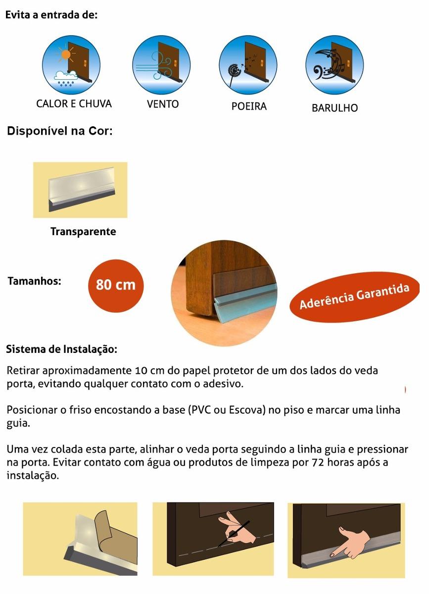 Friso de porta pvc transparente 80 cm adesivo 5094 r 39 for Friso pvc precios