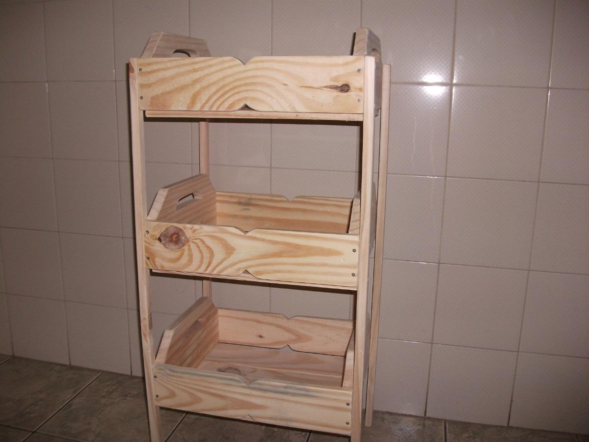 Fruteira De Caixotes  1001 Utilidades.(madeira)com Rodizios R$ 149  #8C613F 1200x900