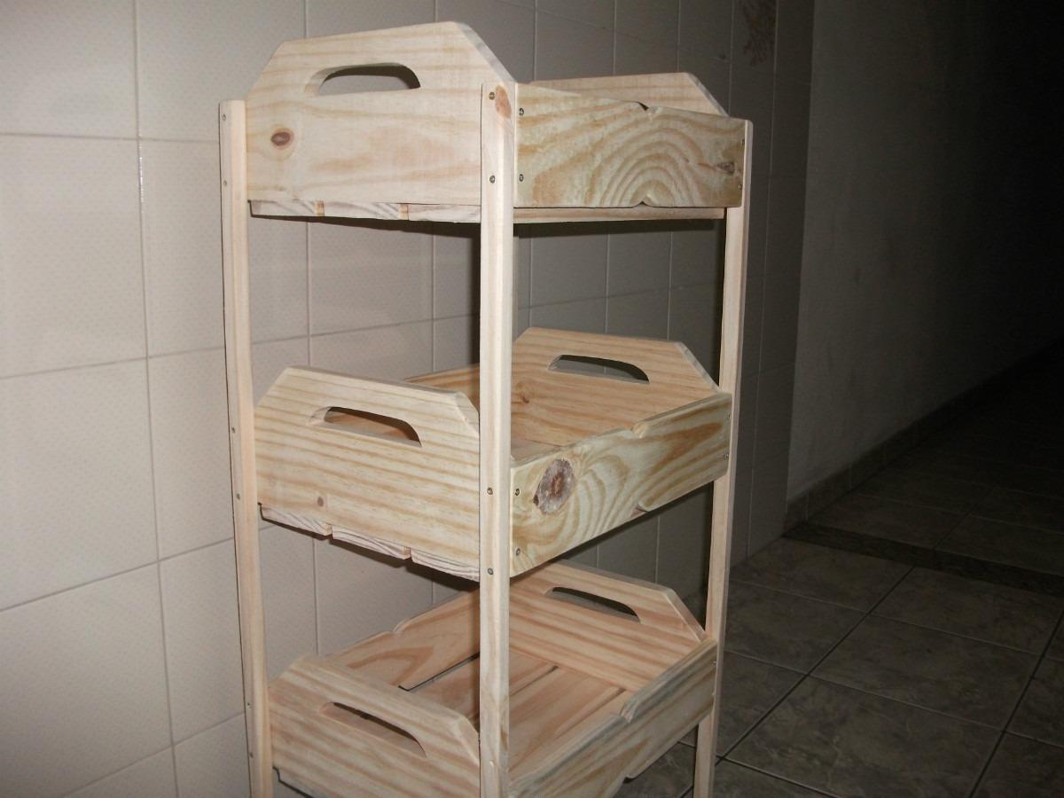 Fruteira De Caixotes  1001 Utilidades.(madeira)com Rodizios R$ 149  #5E4F40 1200x900