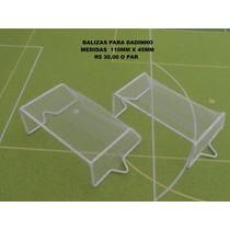 Balizas P/ Dadinho - Jogo De Botão - Trave - Futebol De Mesa