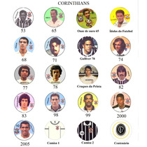 Corinthians Futebol Botão Com Carinhas, Vários Anos 56 Times