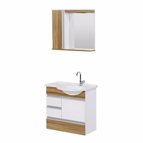 Gabinete Toucador Aj Rorato Florence No 2gav+espelho  R$ 522,99 no MercadoL -> Armario Para Banheiro Aj Rorato