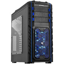 Gabinete Gamer Pegasus Mid Tower 3 Coolers Led Azul Pcyes