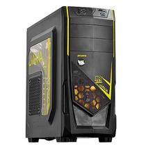 Gabinete Gamer Pcyes Java 2 Fans Led Amarelo