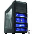 Gabinete Gamer Rhino Lateral Acrilico C/ Fan Led Azul Pcyes