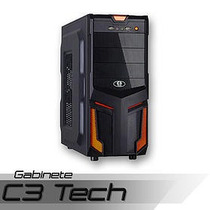 Gabinete Gamer C3 Tech S/ Fonte C/ Usb 3.0 Frontal Pc-3t304