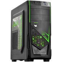 Gabinete Gamer Pcyes Mid Tower Java Verde Sem Fonte 21497