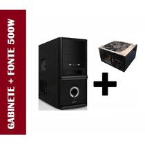 Gabinete Cpu Gamer Com Otima Refrig. Atx + Fonte 500w Real