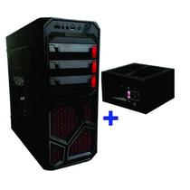 Gabinete Cpu Gamer Com 1 Cooler E Led Atx + Fonte 500w Real