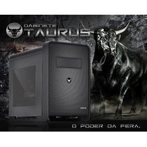 Gabinete Gamer Pcyes Cubo Taurus C/ 2 Fans E Janela Acrilic