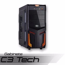 Gabinete Games C3 Tech S/ Fonte C/ Usb 3.0 Frontal Pc-3t304