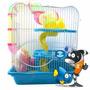 Gaiola Para Hamster Média Com Tubos De Passagem - M012b