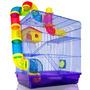 Gaiola Hamster Labirinto Tubos 3 Andares Completa**