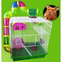 Gaiola Hamster Luxo. 3 Andares, Grande Completa. C/ 14 Tubos