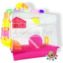 Gaiola Hamster ¨com 3 Andares Completa