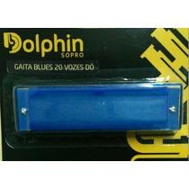 Gaita Blues 20 Vozes Dó Alumínio/acrílico Colorida Dolphin !