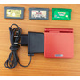 Gba Gameboy Advance Sp Ags-001 + Carregador + 3 Jogos