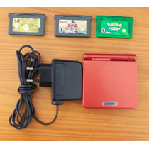 Gba Gameboy Advance Sp Ags-001 + Carregador + 3 Jogos