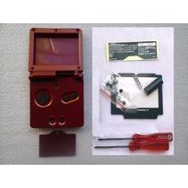 Carcaça Gba Vermelha + Kit De Chaves X E Y R$ 50,00 + Frete