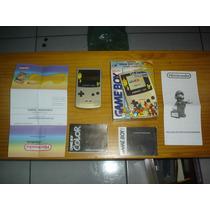 Nintendo Game Boy Color Pokemon Gold/silver Caixa E Manuais