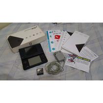 Nintendo Dsi Na Caixa Com Manual + Cartao Lotado De Jogos.