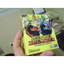 Mortal Kombat 1 E 2 Game Boy Classico Completo Original