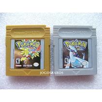 Pokemon Versão Gold E Silver Originais Americanos Seminovos!