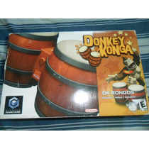 Bongos + Donkey Konga Original Nintendo Gamecube P/ Wii Ngc