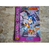 Manual Do Jogo Sonic Chaos - Gamegear