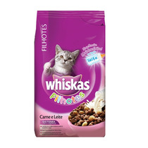 Ração Whiskas Filhote Carne E Leite 1kg- Whiskas