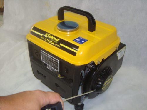 Gerador De Energia Gasolina 950w 63cc C/ Carregador Baterias