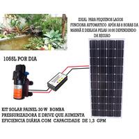 Kit Bomba Solar Painel 30 Wp Com Drive De Potencia