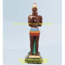 Escultura Caboclo Beira Mar Linda Imagem 40cm Promoção