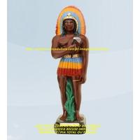 Escultura Caboclo Arranca Toco 50cm Linda Imagem Unica Ml