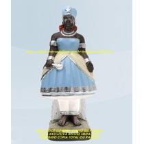 Escultura Orixa Africano Iemanja Linda Imagem 25cm Fabrica