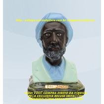 Escultura Busto Preto Velho Pai Jacob Linda Imagem 25cm Ml